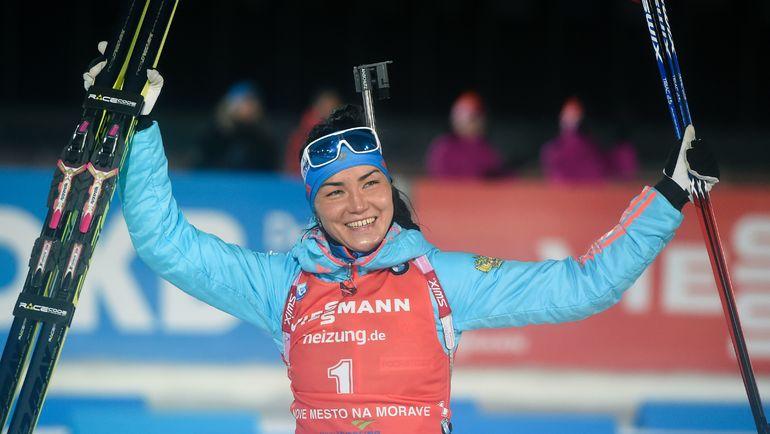 Победительница последнего спринта 2016 года Татьяна АКИМОВА. Фото AFP