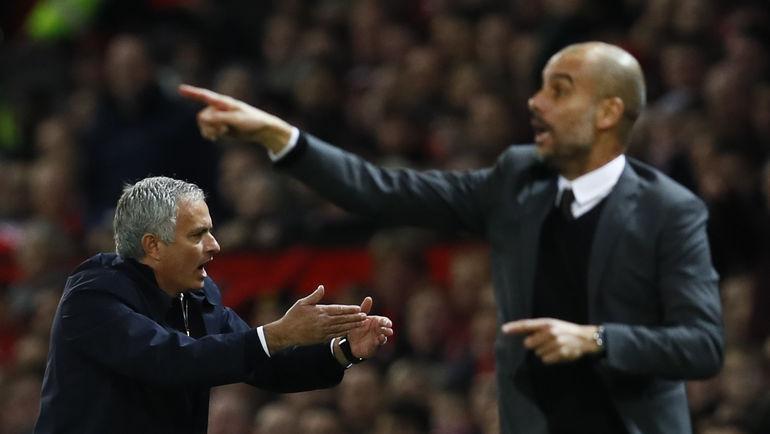 Жозе МОУРИНЬЮ (слева) и Хосеп ГВАРДЬОЛА: Манчестер для двоих. Фото REUTERS