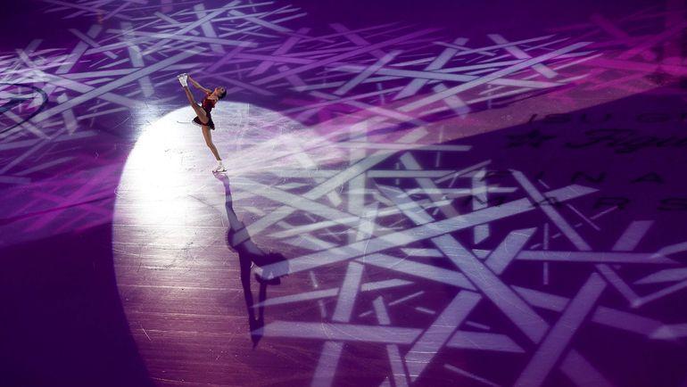 Выступает Евгения МЕДВЕДЕВА. Фото AFP