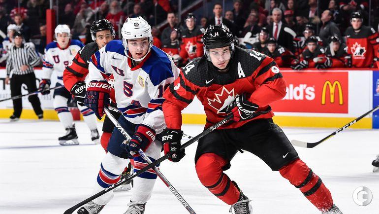 Четверг. Монреаль. США - Канада - 5:4 Б. Клейтон КЕЛЛЕР (слева) и Мэтью БАРЗАЛ. Фото AFP
