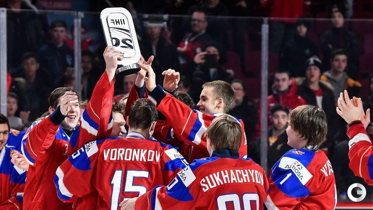 Сегодня. Монреаль. Швеция - Россия - 1:2 ОТ. Молодежная сборная России - бронзовый призер чемпионата мира. Фото AFP