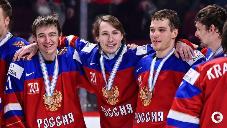 Сегодня. Монреаль. Швеция - Россия - 1:2 ОТ. Игроки сборной России. Награждение. Фото AFP