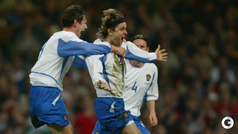 19 ноября 2003 года. Кардифф. Уэльс - Россия - 0:1. Вадим ЕВСЕЕВ - автор победного гола.
