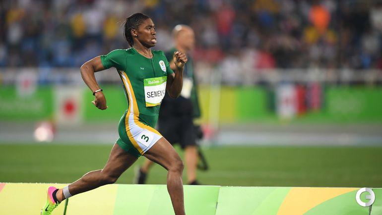 Кастер СЕМЕНЯ на Олимпийских играх в Рио-де-Жанейро. Фото AFP