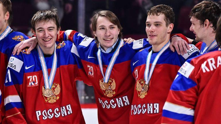 Молодежная сборная России - бронзовый призер чемпионата мира. Фото AFP