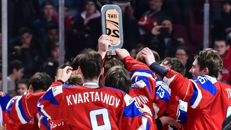 Молодежная сборная России - бронзовый призер МЧМ-2017. Фото AFP