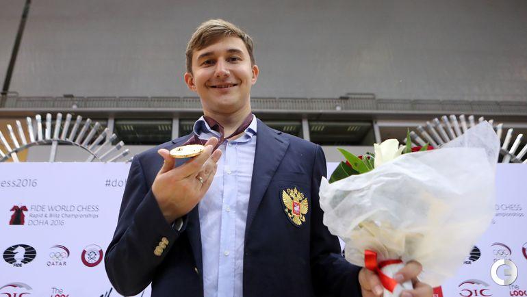 Сергей КАРЯКИН - чемпион мира по блицу. Фото AFP