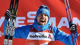 """Сергей УСТЮГОВ стал первым в истории лыжником, которому удалось выиграть пять гонок в рамках одного """"Тур де Ски""""."""