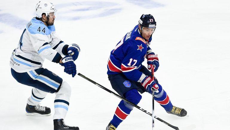 СКА разгромил «Сибирь» вдомашнем матче