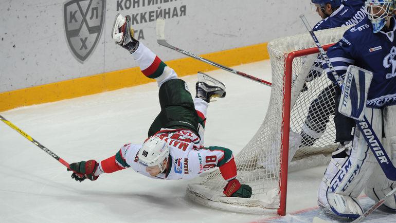 Столичное «Динамо» уступило «АкБарсу» вматче КХЛ