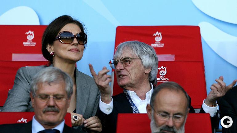 Берни ЭККЛСТОУН и его вторая жена Славика. Фото REUTERS