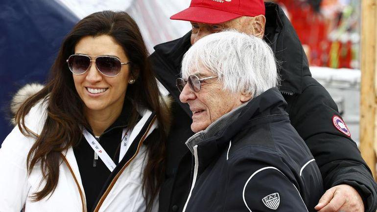 Берни ЭККЛСТОУН и его третья жена Фабиана ФЛОСИ. Фото AFP