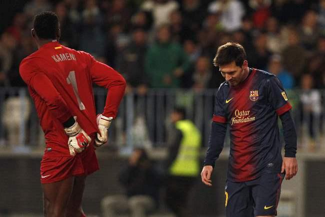 """Сегодня. Малага. """"Малага"""" - """"Барселона"""" - 2:4. Форвард """"Барселоны"""" Лионель МЕССИ получил повреждение. Фото REUTERS Фото REUTERS"""