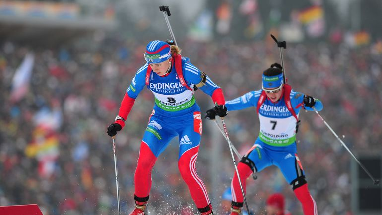 Ольга ВИЛУХИНА и Светлана СЛЕПЦОВА. Фото AFP