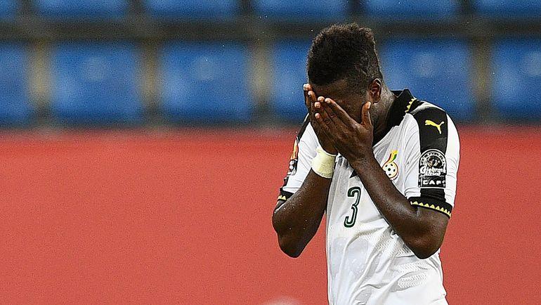 Повреждение у нападающего сборной Ганы Асамоа ГЬЯНА оказалось несерьезным. Фото AFP