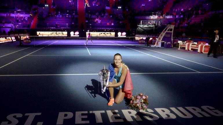 Сегодня. Санкт-Петербург. Чемпионка St. Petersburg Ladies Trophy Кристина МЛАДЕНОВИЧ. Фото AFP