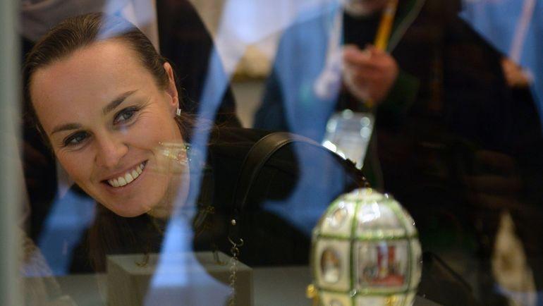 Мартина ХИНГИС в Санкт-Петербурге. Фото AFP
