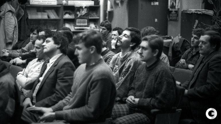 """Январь 1989 года. Москва. Собрание игроков и тренеров """"Спартака"""""""