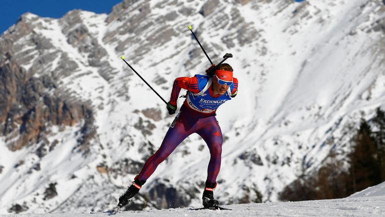 Сегодня. Хохфильцен. Лоуэлл БЭЙЛИ бежит к своему первому золоту чемпионатов мира. Фото REUTERS