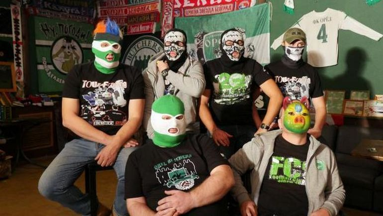 Орловские фанаты. Фото Кадр из фильма BBC