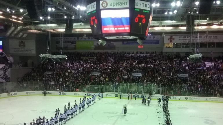 ХК «Трактор» впервом матче плей-офф проиграл «Барысу»