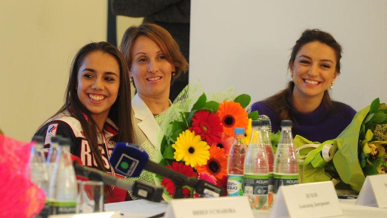 """Маргарита ММАМУН, Амина ЗАРИПОВА, Евгения КАНАЕВА (слева направо). Фото Никита УСПЕНСКИЙ, """"СЭ"""""""