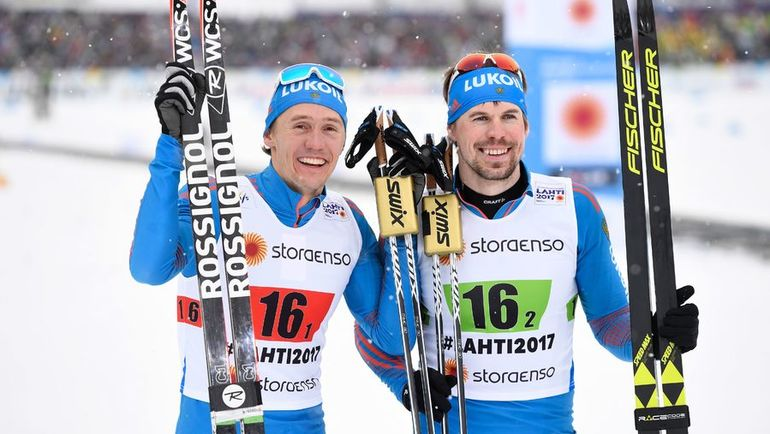 Сегодня. Лахти. Никита КРЮКОВ и Сергей УСТЮГОВ. Фото AFP