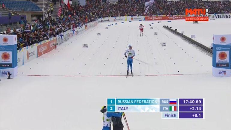 Финиш Иво Нисканена и Эмиля Иверсена. Фото Матч ТВ