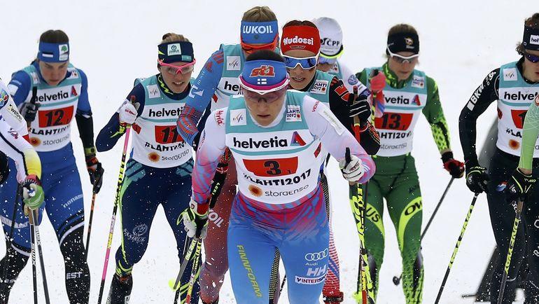 Сегодня. Лахти. Россиянки потеряли шансы на победу еще на первом этапе эстафеты. Фото REUTERS