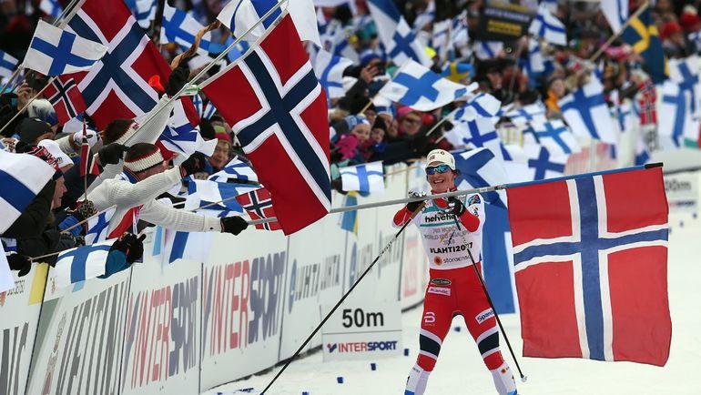 А победу в гонке праздновала Норвегия. Фото AFP