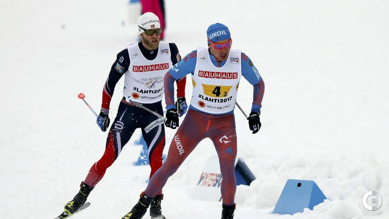 Сегодня. Лахти. Мартин Йонсруд СУНДБЮ (слева) и Алексей ЧЕРВОТКИН. Фото REUTERS