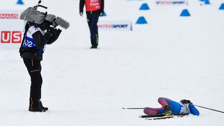 Алексей ЧЕРВОТКИН после завершения своего этапа. Фото AFP
