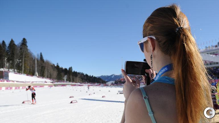 """На лыжной трассе. Фото """"СЭ"""""""