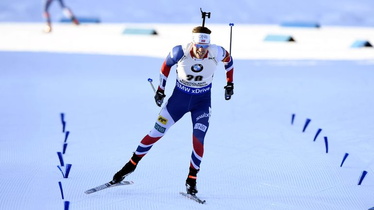 Эмиль Хегле СВЕНДСЕН занял третье место в гонке преследования. Фото AFP