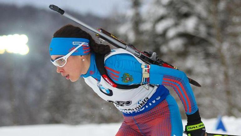 Ульяна КАЙШЕВА - одна из биатлонисток, кто получил шанс в первой команде, но не смог в ней закрепиться. Фото Союз биатлонистов России