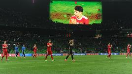 Пятница. Краснодар. Россия - Кот-д'Ивуар - 0:2. Илья КУТЕПОВ на большом экране.