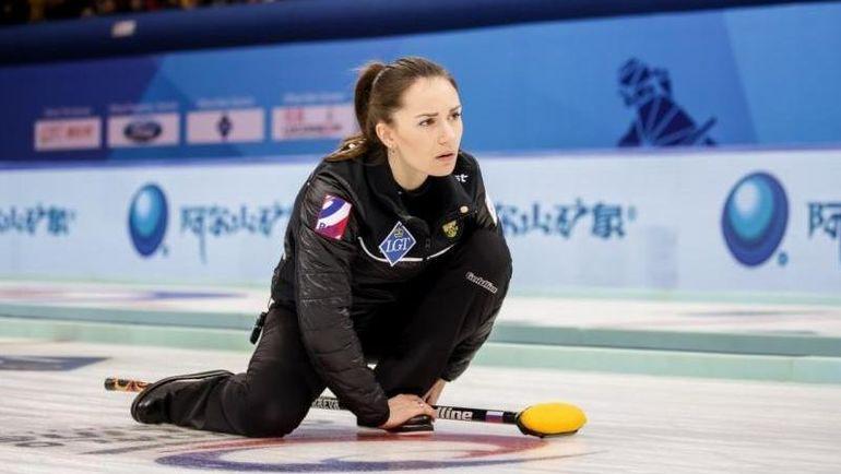 Скип сборной России Анна СИДОРОВА. Фото worldcurling.org