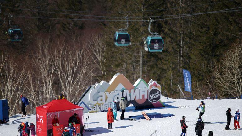 """Спортивно-туристический комплекс """"Горный воздух"""" - один из символов Сахалина. Фото Андрей ГОЛОВАНОВ"""