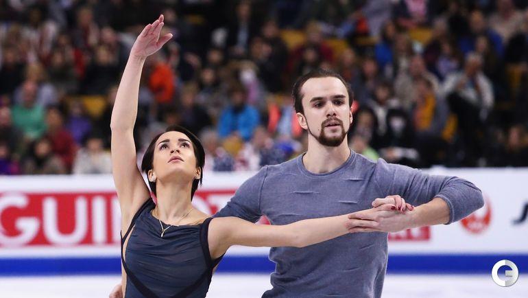 Ксения СТОЛБОВА и Федор КЛИМОВ (парное катание). Фото AFP