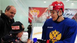 Солнечные детишки на тренировке сборной России