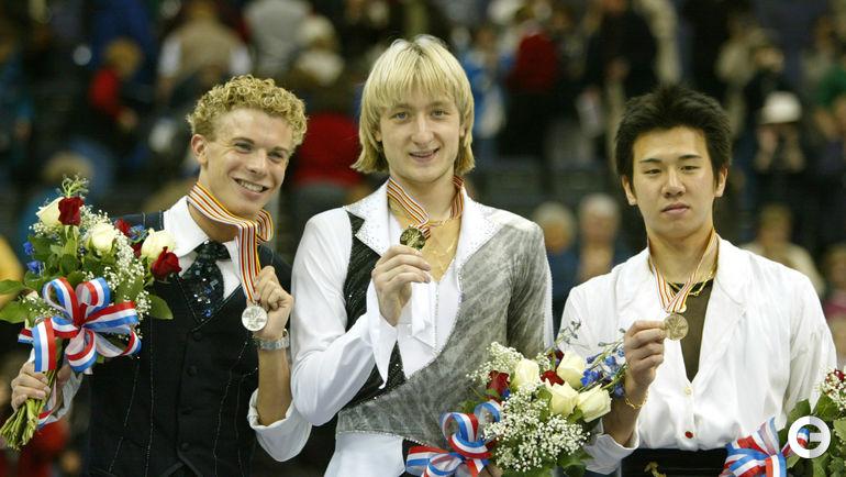 2003 год. Тимоти ГЕЙБЛ, Евгений ПЛЮЩЕНКО, Такэси ХОНДА (слева направо). Фото REUTERS