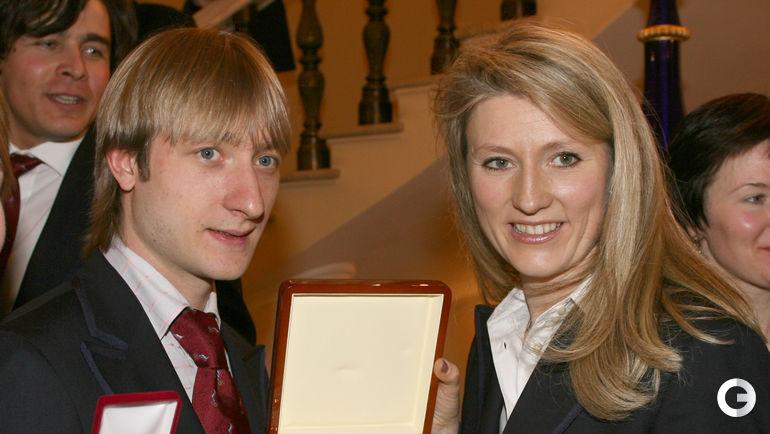 2006 год. Евгений ПЛЮЩЕНКО (слева) и Светлана ЖУРОВА. Фото Александр ВИЛЬФ