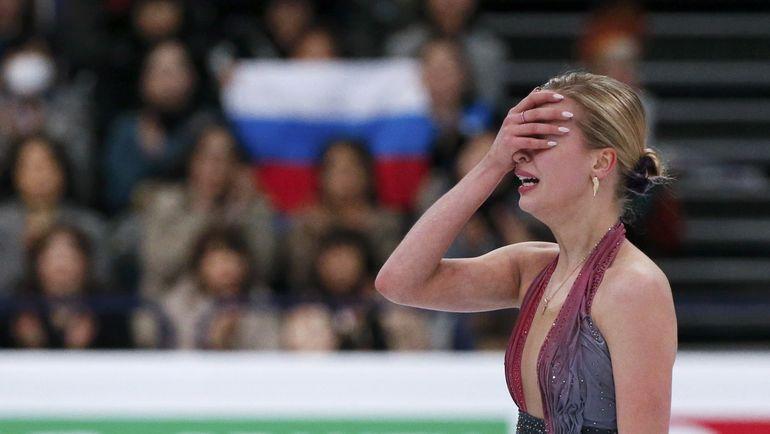 Пятница. Хельсинки. Эмоции Анны ПОГОРИЛОЙ. Фото AFP
