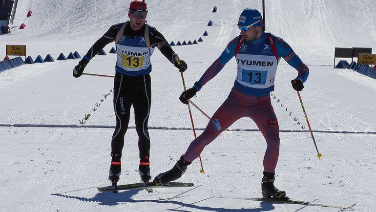 Участие Антона ШИПУЛИНА (справа) в чемпионате России ограничилось мужской эстафетой. Фото СБР