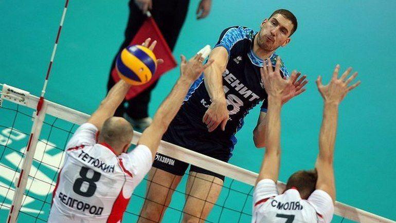 Волейболисты «Белогорья» немного недоработали вматчеЛЧ с«Зенитом»— Косарев