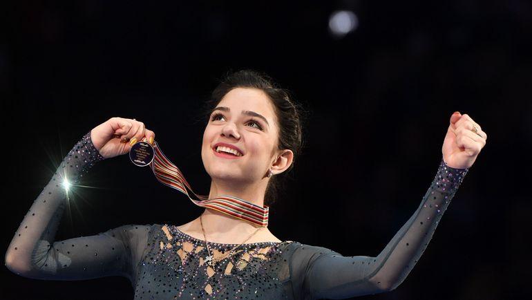 31 марта. Хельсинки. Евгения МЕДВЕДЕВА - чемпионка мира-2017. Фото AFP