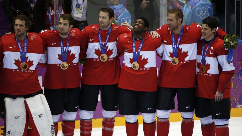 23 февраля 2014 года. Сочи. Сборная Канады выиграла золото Олимпийских игр-2014. Фото REUTERS