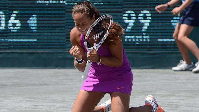 Сегодня. Чарльстон. Дарья КАСАТКИНА выиграла свой первый индивидуальный трофей в карьере.