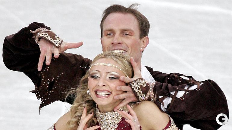 2005 год. Татьяна НАВКА и Роман КОСТОМАРОВ. Фото AFP