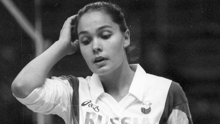 1994 год. Татьяна ГРАЧЕВА в сборной России. Фото Дмитрий СОЛНЦЕВ
